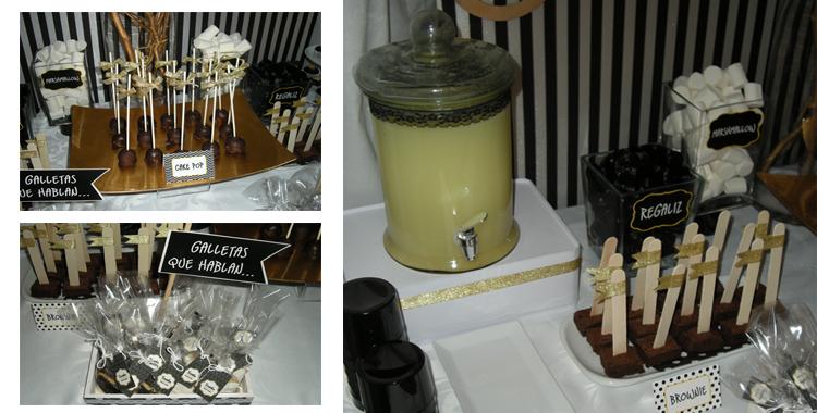 Cóctel estilo vintage ofrecido en la carpa del evento