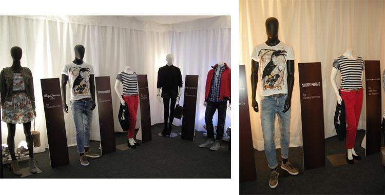 Imagen de la exposición con los looks-propuesta de las bloggers