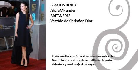 Alicia Vikander con un vestido de Christian Dior