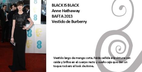 Look rockero de Anne Hathaway  con  vestido Burberry