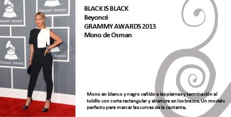 Beyoncé  con un mono de Osman en dos tonos
