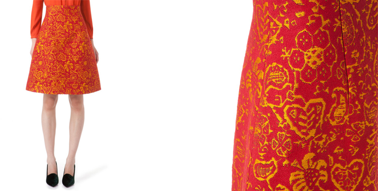 Falda en tonos vivos de bimba y lola