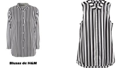Blusas de rayas de H&M