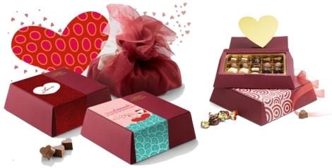 Cajas personalizables de Nestlé para el día de los enamorados