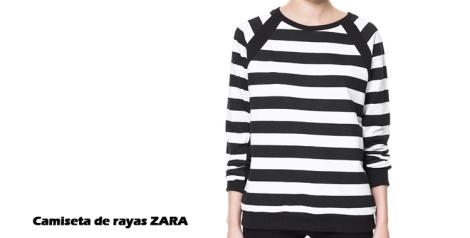 Camiseta de rayas Zara en blanco y negro
