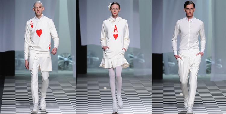 David Delfín Madrid Fashion Week. Prendas póker