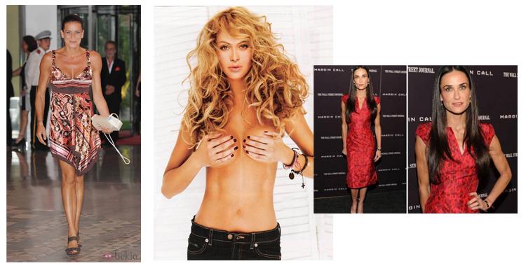 Fotos de Estefania de Mónaco, Paulina Rubio y Demmi More de bekia.com, lamega.com y diariodecuyo.com/ar