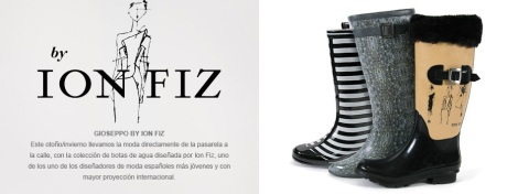 Botas de agua de Ion Fiz para Gioseppo