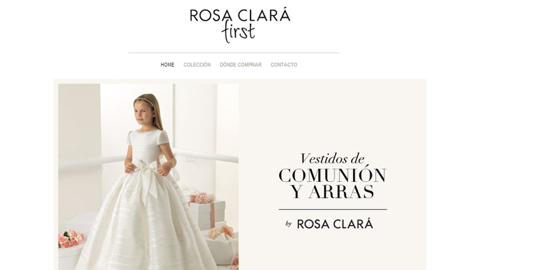 Homepage Rosa Clarà First