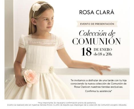 Invitación presentación colección de trajes de comunión y arras de RC