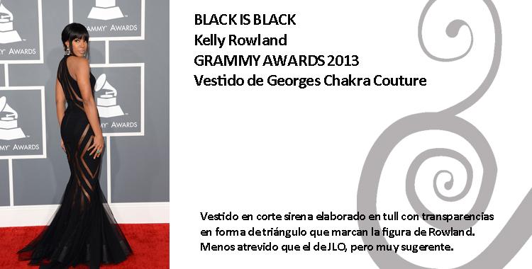 Kelly Rowland con vestido de Georges Chakra