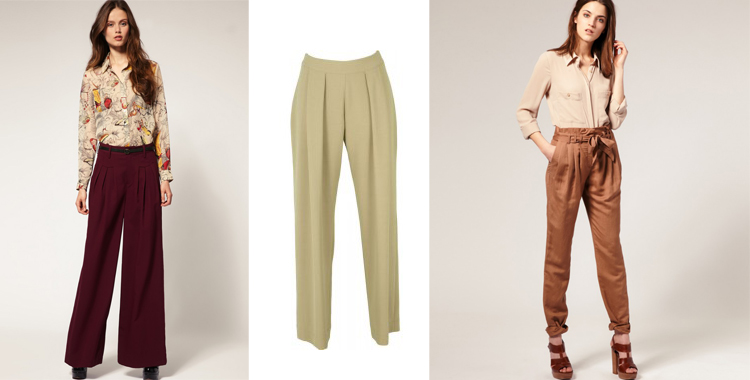 Pantalones con pinzas y volumen de e.pongo.es y compraropa.es