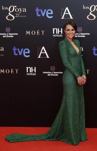 Vestido de Paula Echevarría de Dolores Promesas