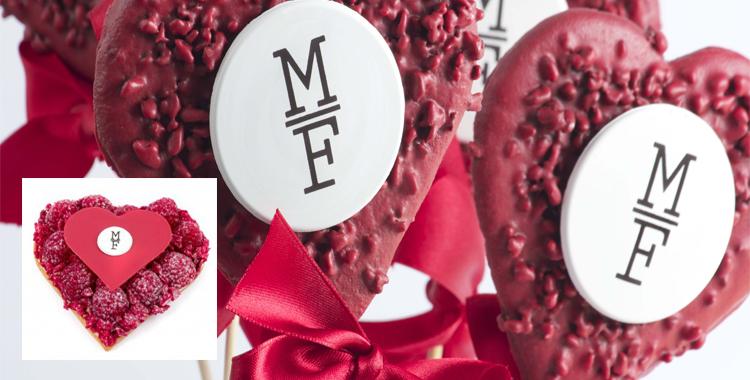Piruletas dulce y tarta de frambuesas de Mama Framboise