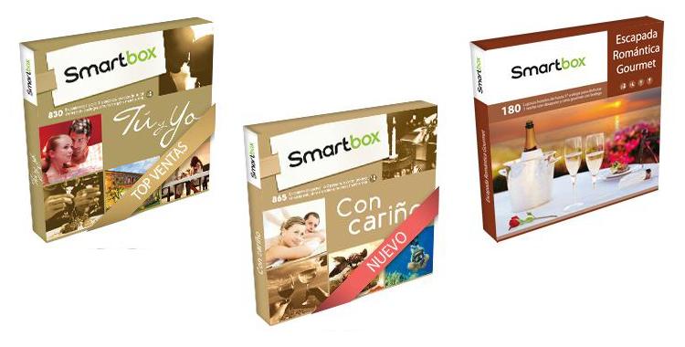Diferentes packs -regalo de Smartbox con experiencias para disfrutar en pareja