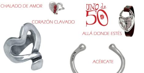 Joyas para mujeres y hombres de Unode50 para San Valentín