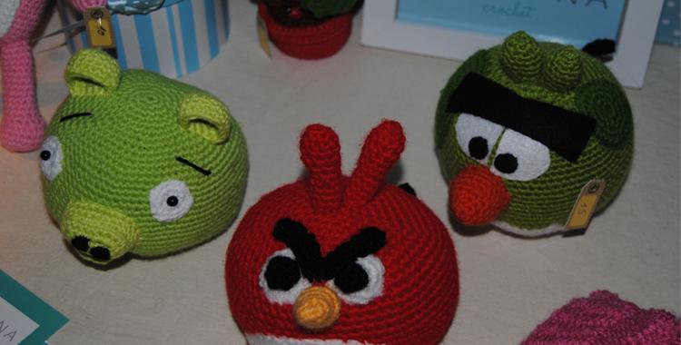 Los angry birds de Teresa crochet. Peluches tradicionales y de actualidad realizados a mano