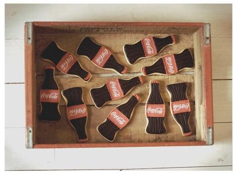 Aquí tenemos un claro ejemplo de las posibilidades de este producto. Galletas de Coca-Cola de Carlotas