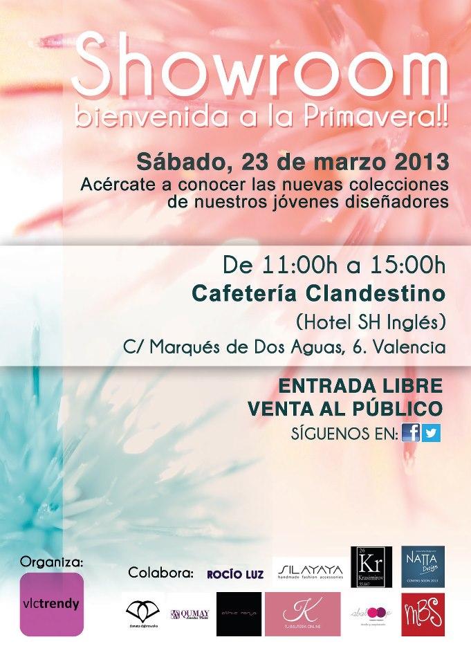 Cartel oficial del Showroom de Valencia Trendy