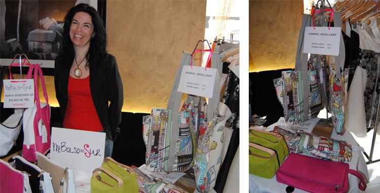 Mi bolso del sur en el showroom del Hotel Inglés donde conocí a Rosana