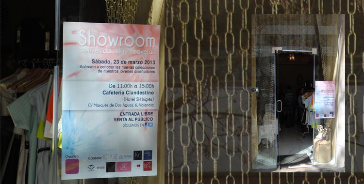 Entrada al showroom organizado por Trendy Valencia