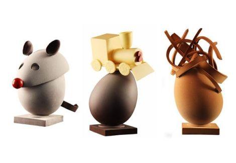 Huevos de chocolate de Oriol Balaguer con motivos infantiles