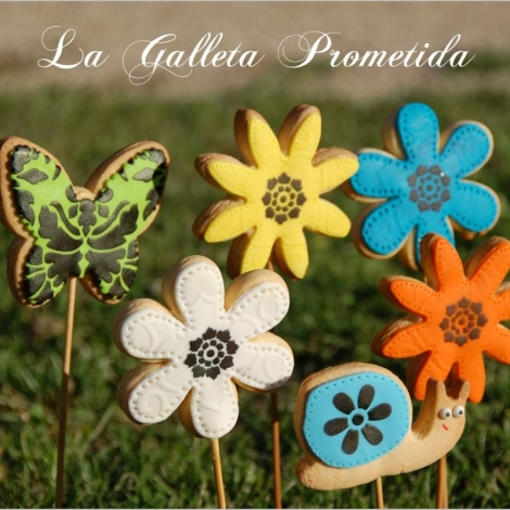 Imagen de las galletas flor que podemos encontrar en La Galleta Prometida