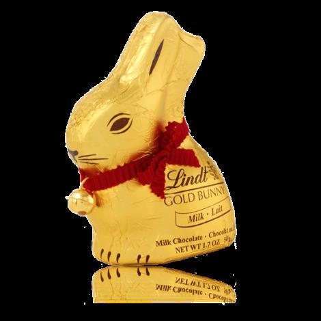 Conejo de pascua de chocolate de Lindt con cascabel de regalo
