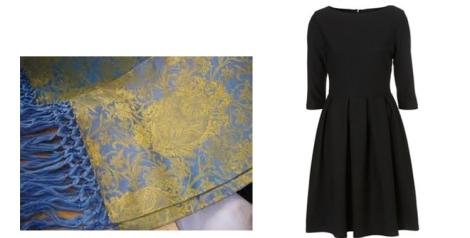 Propuesta de Little Black Dress con pañolón de Camilo Miralles