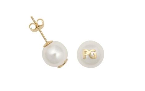Pendientes de perla discretos de Purificación García
