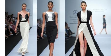 Alejandro Carlin. Blanco y negro para los vestidos de fiesta