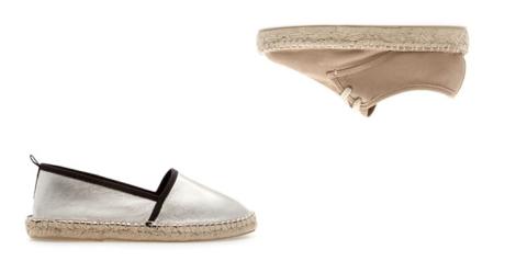 Alpargatas de Zara para este verano con cordones y detalles metalizados
