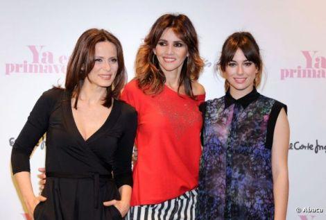 Aitana Sánchez Gijón, Goya Toledo y Blanca Suárez en la presentación de la campaña publicitaria