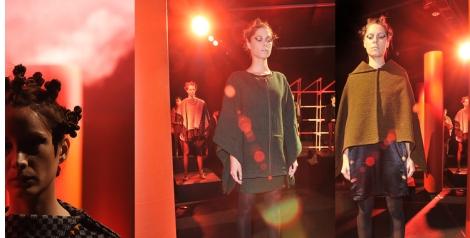 Grandes capas y ponchos de Carla Fernández cubren a la mujer