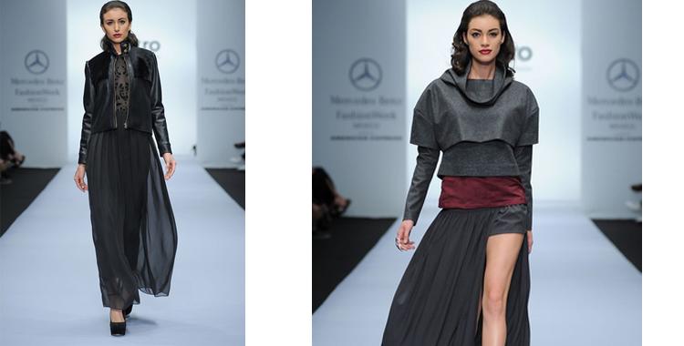 Faldas largas con grandes cortes que se superponen a bermudas y pantalones pitillo