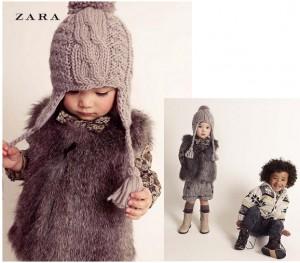Chaleco de pelo niña de Zara Kids