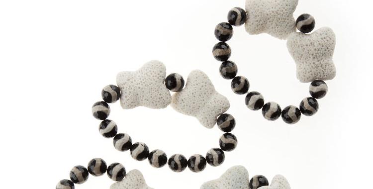 Colección Amazonas pulseras con ágatas tibetanas