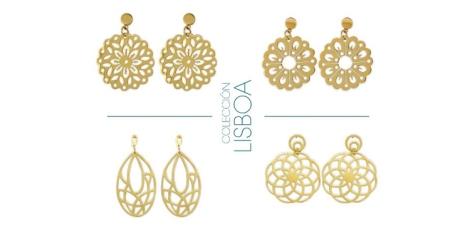 Pendientes dorados de la colección Lisboa
