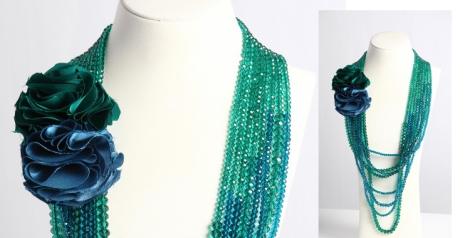 Colección Maui. Collar con cristal checo