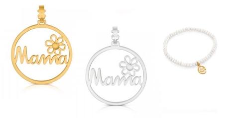 Colgantes en oro y plata de la colección Mamá de Tous