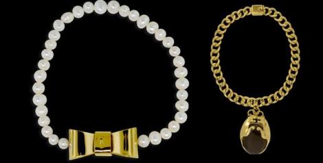 Collar con eslabones dorados de Míticos felinos y collar Viena