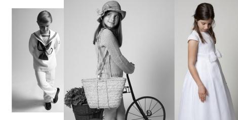 Muestra de imágenes que conforman el album de fotos de comunión producido por FotoStar