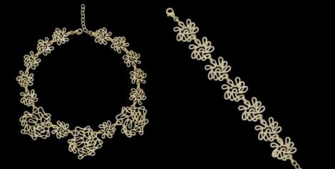 Colección Infinito Elite gold de Espinosa. Collar y pulsera