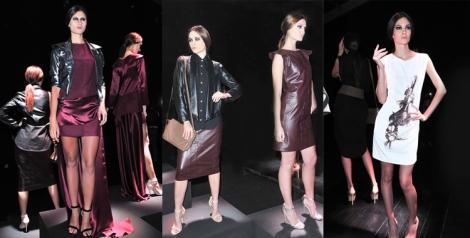 Lorena Saravia por las prendas con detalles en piel