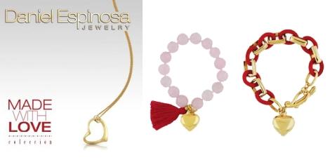 Dorado, perlas y corazones para lo más romántico de Espinosa