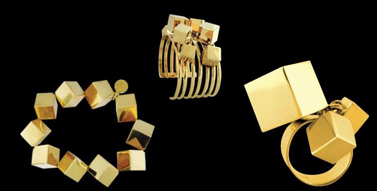 Pulsera, brazalete y anillo de Mexican Geometry