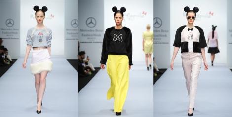 El negro, color que predomina en Mickey Mouse, forma muy buena combinación con el amarillo