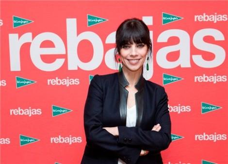 Maribel Verdú sobre photocall de Rebajas El Corte Inglés
