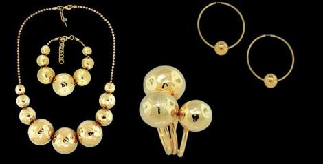 Colección Reflections. Esferas doradas como destellos de sol