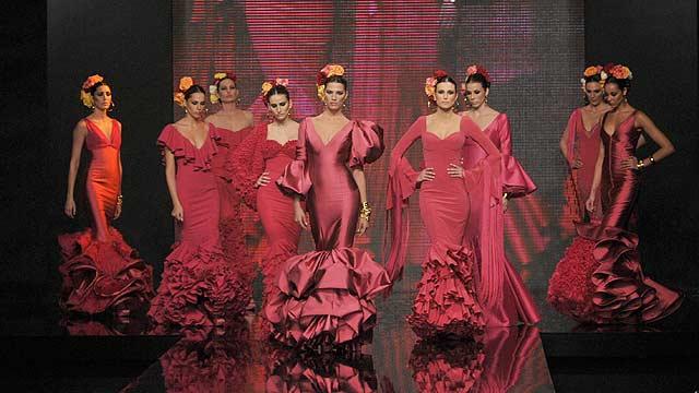 Modelos con los diseños de Vicky Martín Berrocal